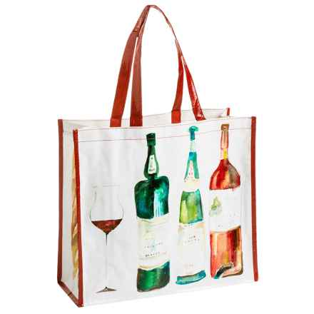 KAF Home Masha Reusable Shopping Tote Bag in Wine - Closeouts