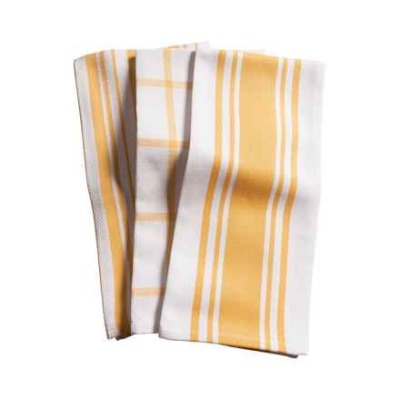 KAF Home Pantry Kitchen Towels - Set of 3, Cotton in Honey - Closeouts