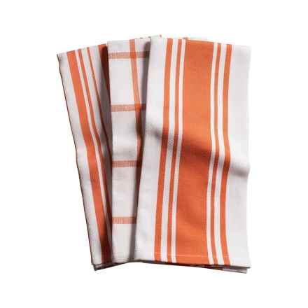 KAF Home Pantry Kitchen Towels   Set Of 3, Cotton In Orange   Closeouts