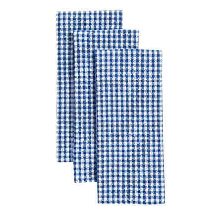 KAF Home Picnic Kitchen Towels - 3-Pack, Cotton in Blue - Closeouts