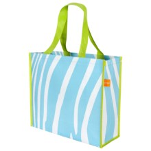 "KAF Home Soma Reusable Shopping Tote Bag - 14x16"" in Blue Zebra - Closeouts"