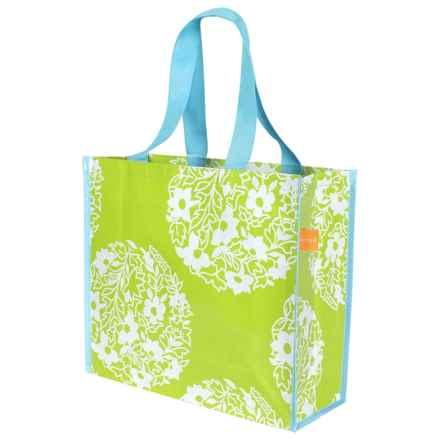 """KAF Home Soma Reusable Shopping Tote Bag - 14x16"""" in Green Mandala - Closeouts"""