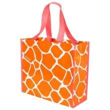 "KAF Home Soma Reusable Shopping Tote Bag - 14x16"" in Orange Giraffe - Closeouts"