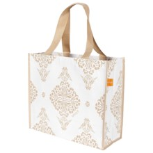 """KAF Home Soma Reusable Shopping Tote Bag - 14x16"""" in White - Closeouts"""