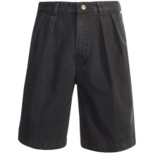 Kahala Twill Fitted Shorts (For Men) in Black - Closeouts