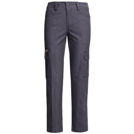 Kakadu 8 oz. Gunn-Worn Canvas Cargo Pants (For Women) in Blue