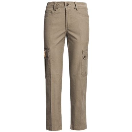 Kakadu 8 oz. Gunn-Worn Canvas Cargo Pants (For Women) in Taupe