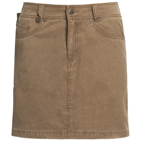 Kakadu Ashbury Skirt - 8 oz. Gunn-Worn Canvas (For Women) in Tobacco