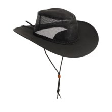 Kakadu Australia Townsville Packable Hat - UPF 50+, Ventilating Mesh (For Men and Women) in Black - Closeouts