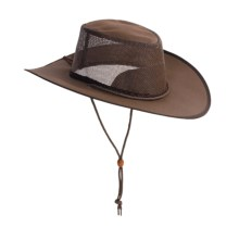 Kakadu Australia Townsville Packable Hat - UPF 50+, Ventilating Mesh (For Men and Women) in Brown - Closeouts