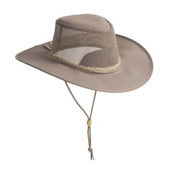 Kakadu Australia Townsville Packable Hat - UPF 50+, Ventilating Mesh (For Men and Women) in Black