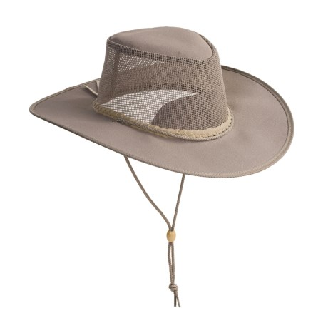 Kakadu Australia Townsville Packable Hat - UPF 50+, Ventilating Mesh (For Men and Women) in Grey