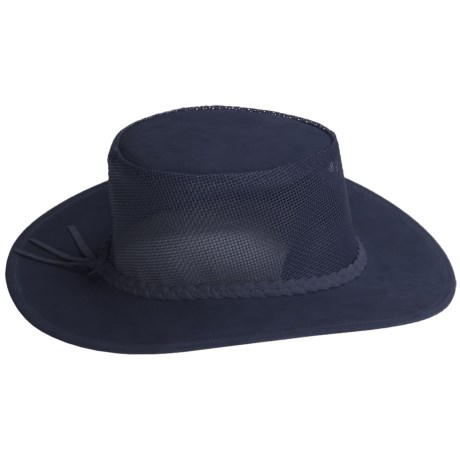 Kakadu Bendigo Mossback Suede Hat - UPF 50+ (For Men and Women) in Navy