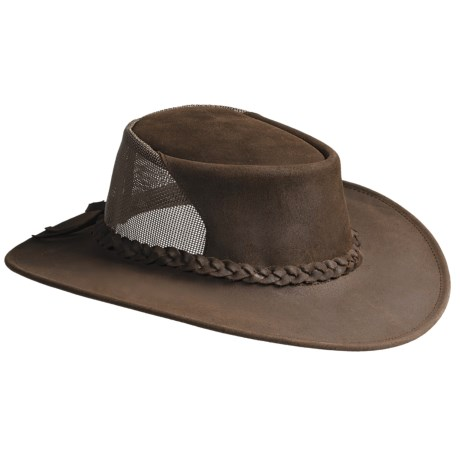 Kakadu Brimstone Breeze Leather Hat (For Men and Women) in Brown