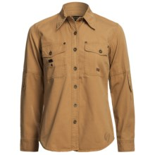 Kakadu Bronte 8 oz. Gunn-Worn Canvas Shirt - Long Sleeve (For Petite Women) in Mustard - Closeouts