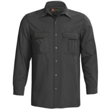 Kakadu Cable Snap Front Shirt - 8 oz. Gunn-Worn Canvas, Long Sleeve (For Men) in Black - Closeouts