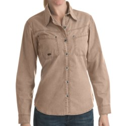 Kakadu Clovelly Shirt - Long Sleeve (For Women) in Bone