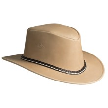Kakadu Coburg Leather Hat (For Men and Women) in Sand - Closeouts