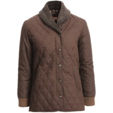 Kakadu Coleraine Quilted Oilskin Jacket (For Women) in Brown - Closeouts