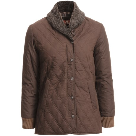Kakadu Coleraine Quilted Oilskin Jacket (For Women) in Brown