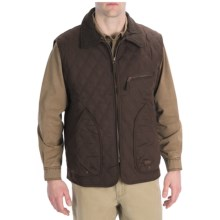 Kakadu Collac Vest - Quilted Oilskin Canvas, Insulated (For Men) in Brown - Closeouts