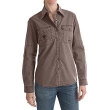 Kakadu Concord Shirt - Long Roll-Up Sleeve (For Women) in Taupe - Closeouts