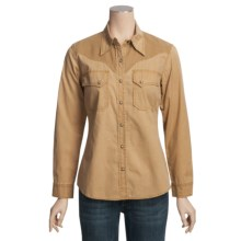 Kakadu Dallas Shirt - 5 oz. Cotton Canvas, Long Sleeve (For Women) in Mustard - Closeouts