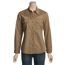 Kakadu Dallas Shirt - 5 oz. Cotton Canvas, Long Sleeve (For Women) in Tobacco - Closeouts