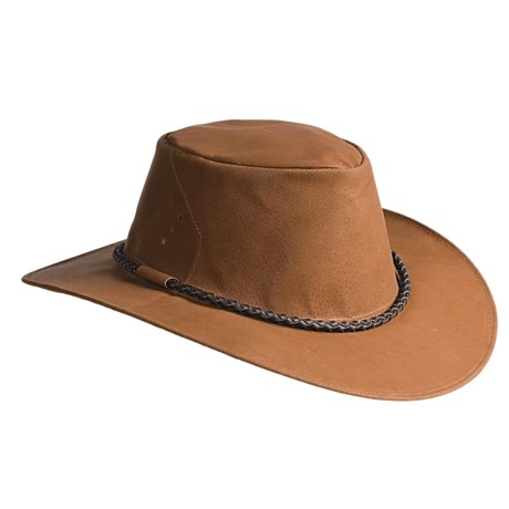 Kakadu Fitzroy Ultralight Vintage Hat - Pigskin (For Men and Women) in Whiskey