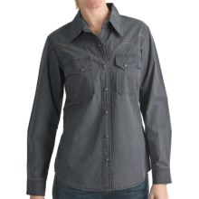 Kakadu Fortworth Shirt - 5 oz. Cotton Canvas, Long Sleeve (For Women) in Blue - Closeouts