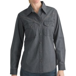 Kakadu Fortworth Shirt - 5 oz. Cotton Canvas, Long Sleeve (For Women) in Loden Green