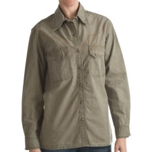 Kakadu Fortworth Shirt - 5 oz. Cotton Canvas, Long Sleeve (For Women) in Loden Green - Closeouts