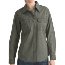 Kakadu Fortworth Shirt - 5 oz. Cotton Canvas, Long Sleeve (For Women) in Moss W/Contrast Trim - Closeouts