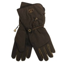 Kakadu Gauntlet Oilskin Motorcycle Gloves (For Men and Women) in Brown - Closeouts
