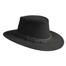 Kakadu Geelong Mossback Suede Hat - Five-Strand Braid Band (For Men and Women) in Black - Closeouts