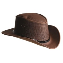 Kakadu Goanna Leather Hat (For Men and Women) in Brown - Closeouts