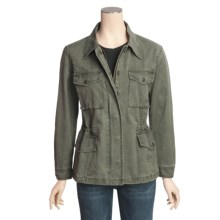 Kakadu Jackie Jacket - 8 oz. Cotton Canvas, Barrel Washed (For Women) in Sage - Closeouts