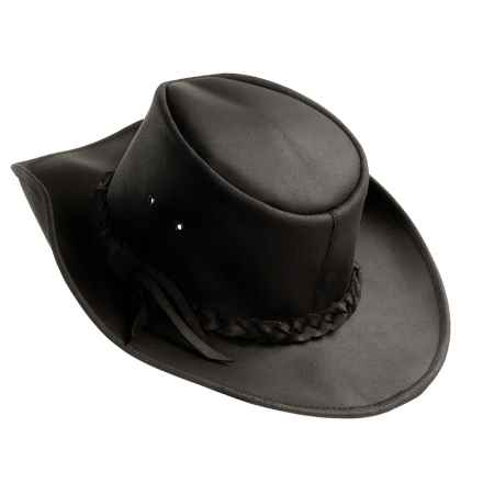Kakadu Langston Slicker Hat - Leather Band (For Men and Women) in Black - Closeouts