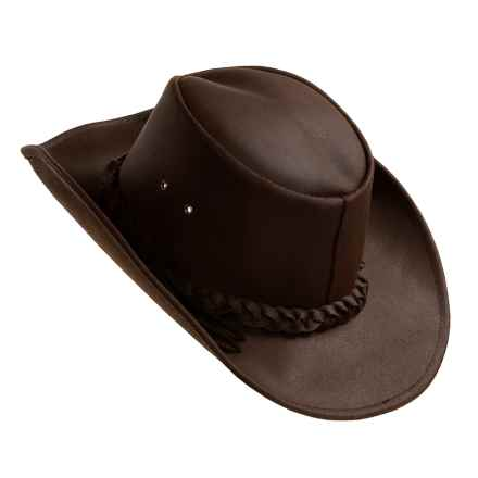 Kakadu Langston Slicker Hat - Leather Band (For Men and Women) in Brown - Closeouts