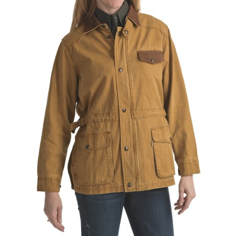 Kakadu Pilbara Jacket - Gunn-Worn Canvas (For Women) in Mustard
