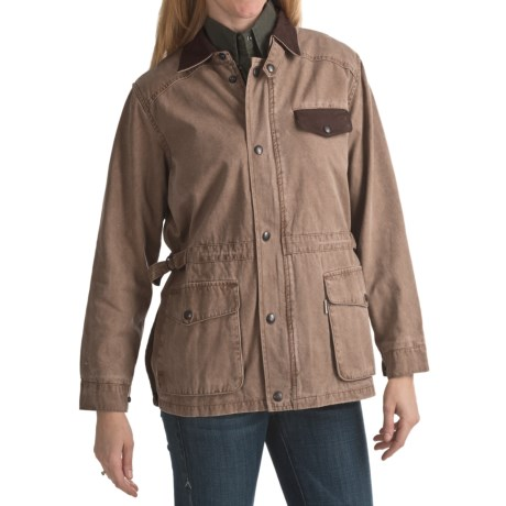 Kakadu Pilbara Jacket - Gunn-Worn Canvas (For Women) in Tobacco