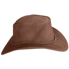 Kakadu Queenslander Hat - UPF 50+, Mossback Suede (For Men and Women) in Chocolate - Closeouts