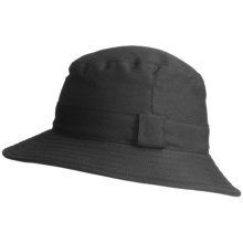 Kakadu Rochford Microwax Oilskin Hat (For Men and Women) in Black - Closeouts