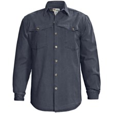 Kakadu Station Double Stitch Shirt - Gunn-Worn Canvas, Long Sleeve (For Men) in Blue - Closeouts