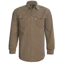 Kakadu Station Shirt - 10 oz. Gravel Canvas, Long Sleeve (For Men) in Tobacco - Closeouts