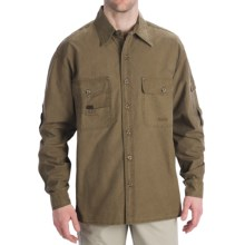 Kakadu Toorak Shirt - 10 oz. Gunn-Worn Canvas, Roll-Up Long Sleeve (For Men) in Tobacco - Closeouts