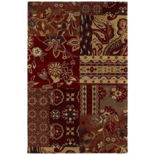 "Kaleen Athenian Garden Area Rug - Handcrafted Virgin Wool, 3'6""x5'3"" in Paprika - Closeouts"