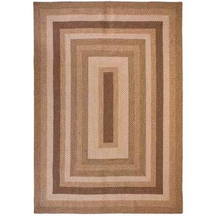 Kaleen Bimini Collection Indoor-Outdoor Area Rug - 8x11' in Mocha - Closeouts