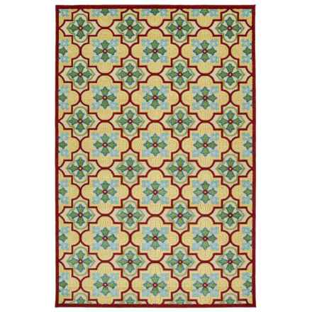 "Kaleen Breath of Fresh Air Indoor/Outdoor Accent Rug - 3'10""x5'8"" in Gold Trellis - Overstock"