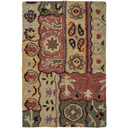 Kaleen Brooklyn Collection Accent Rug - 2x3', Hand-Tufted Wool in Lizbeth Gold - Overstock
